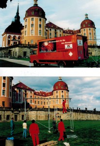 Feuerwerk auf Schloss Moritzburg, 30.8. 1996
